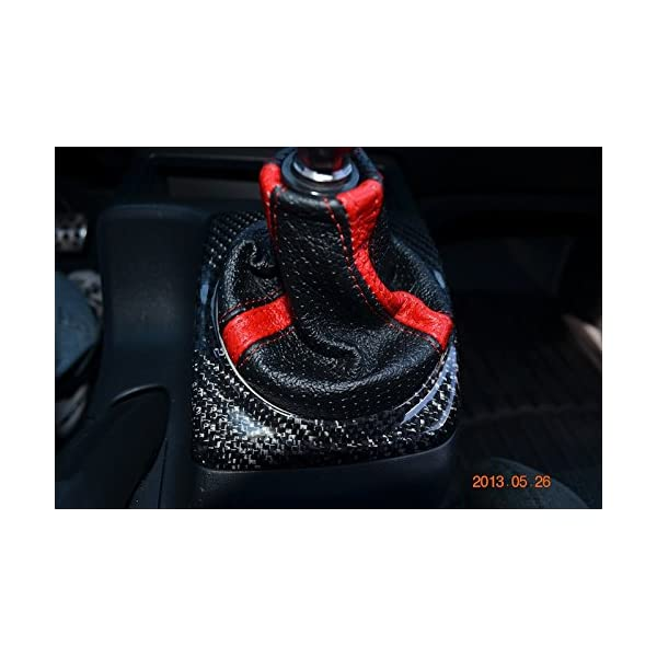RedlineGoods Shift Boot Compatible with Honda Civic 2001-05 EP3 Red Leather-Black Thread
