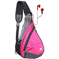 Anti Theft Sling Bag - Small Chest Shoulder Crossbody Backpack for Men & Women