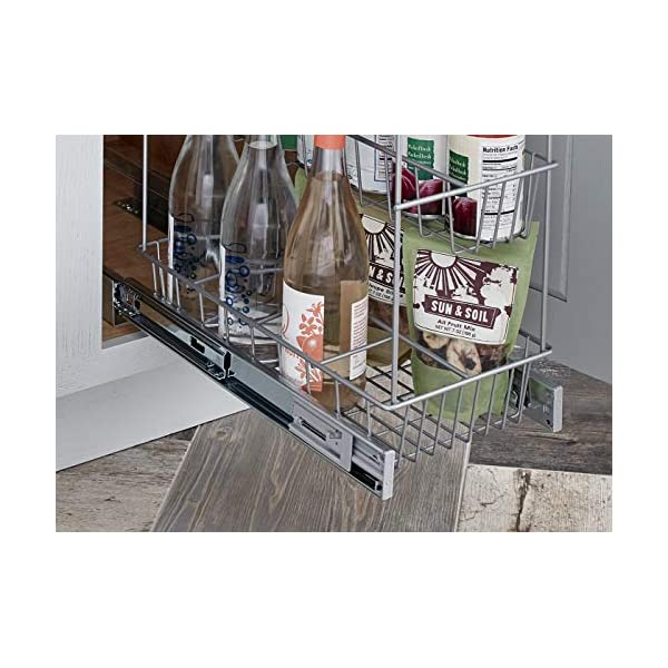 Rack Organizer Unit on Wheels Slide Plastic Storage cart Pull-Out Adorn Home Essentials 4-Tier Narrow White Out Mobile Commodity Shelf
