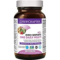 New Chapter Women's Multivitamin, Every Woman's One Daily 40+, Fermented with Probiotics + Vitamin D3 + B Vitamins + Organic Non-GMO Ingredients - 24 ct