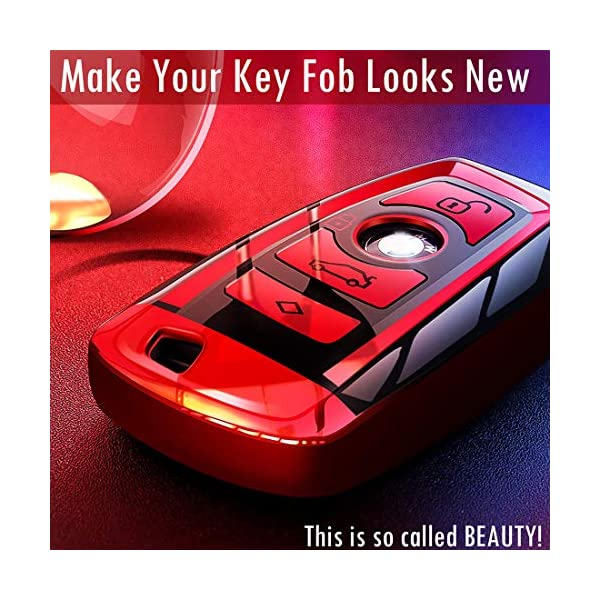 iJDMTOY Exact Fit Gloss Metallic Pearl White Smart Key Fob Shell Compatible With BMW 1 2 3 4 5 6 7 Series X3