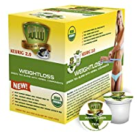 SOLLO Organic Green Tea Pods Compatible with 2.0 K-Cup Keurig Brewers Weight Loss Control Suppresses Appetite Slimming Tea by USDA 24 Count per Pack.