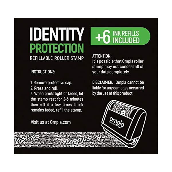 Stamps Office Supplies Identity Theft Protection Roller Stamp for ...