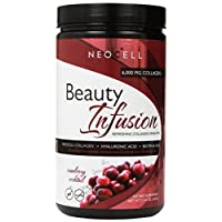 Neocell Beauty Infusion Refreshing Collagen Drink Mix Supplement, Cranberry Cocktail,11.64 OZ