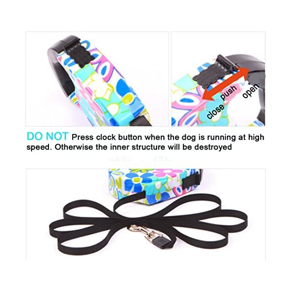 Blovess Yueton 16.5 ft Pet Dog Cat Puppy Retractable Leash Traction Rope Walking Lead Leash