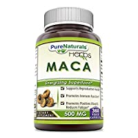 Pure Naturals Maca Root Supplement - 500 mg, 360 Capsules Per Bottle * Supports Reproductive Health, Promotes Harmonal Balance and Immune Health *