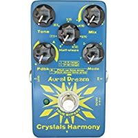 Aural Dream Crystals Harmony Guitar Pedal with 4 Modes Legend Delay Harmony and shifting 24 simetones or Octave(s)for creating cascaded crystal particles effects,True Bypass.
