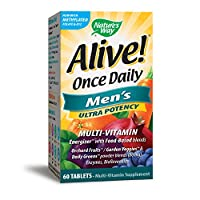 Nature's Way Alive! Once Daily Men's Multivitamin, Ultra Potency, Food-Based Blends, 60 Tablets