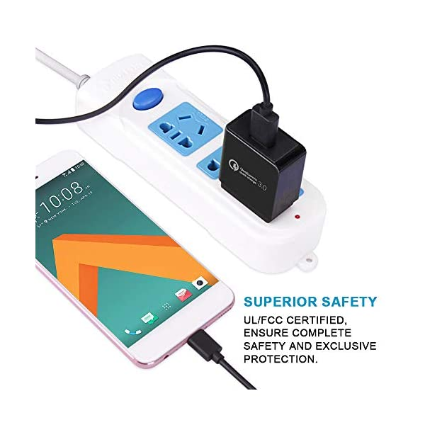 Fast Wall Charger FiveBox 1PC 3Amp Quick Charge USB Plug Fast Charging Cube Power Adapter Compatible Samsung Galaxy S10 S9 iPhone 7//6//6s Tablet Single Port Motorola LG More