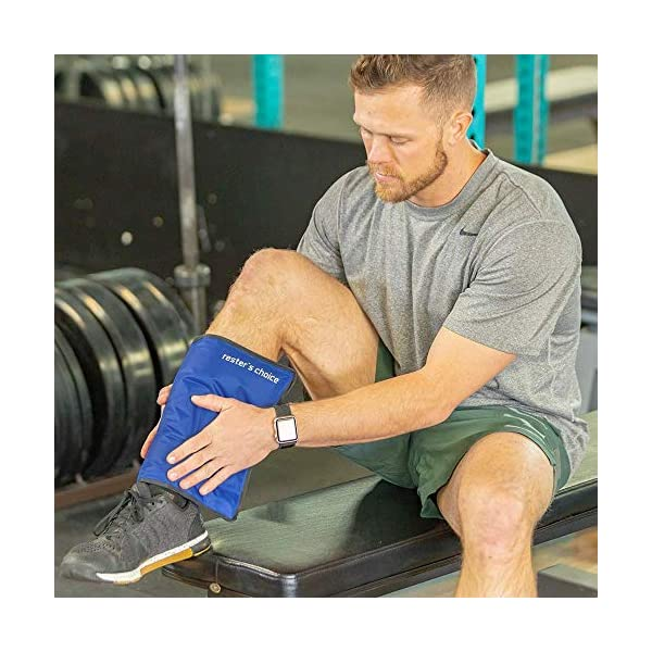 """Cold Therapy Gel Pack – Large 13x21.5"""" Ice Pack for Back, Knee, Legs, and Shoulders – Cold Ice Gel Pack Reduces Pain and Swelling from Injury and Surgery – Blue Cold Compress Pack by Rester's Choice"""
