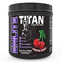ENLITE Powdered Weight Loss Formula- Increase Fat Burning, Boost Energy and Reduce Appetite |Green Tea, Yohimbine, and Natural Caffeine| for Men and Women (Twisted Cherry)