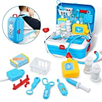 Gizmovine 17 pcs Doctor Kit for Kids, Gifts for 2 3 4 5 Year Old Boys Girls, Realistic Pretend Kid Doctor Play Set, Pretend Medical Kit Toys for 2 3 4 5 Year Old Girls Boys Toddlers Children