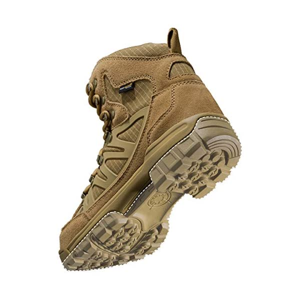 FREE SOLDIER Outdoor Mens Tactical Military Combat Ankle Boots Water Resistant Lightweight Mid Hiking Boots