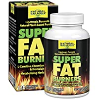 Natural Balance Super Fat Burners | Energy, Metabolism & Healthy Weight Management Formula & Plan | With Chromium Picolinate | 120 VegCaps, 30 Serv.