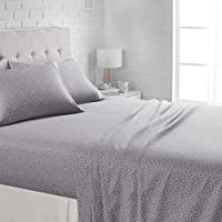 AmazonBasics Lightweight Super Soft Easy Care Microfiber Bed Sheet Set with 16