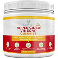 Organic Apple Cider Vinegar Gummies - Unfiltered ACV with The Mother (90Gummies) Weight Loss Alternative to Capsules, Tablets, and Pills - Immune System Support, Detox, Metabolism, Acid Reflux