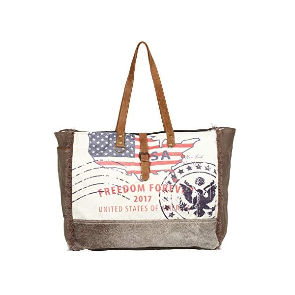 Myra Bag Floral Upcycled Canvas Cowhide Leather Travel Bag S 0999 Travel Totes Myra provides a wide range of canvas, leather & hair on products. myra bag floral upcycled canvas
