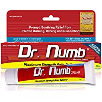 Dr. Numb 5% Lidocaine Topical Numbing Cream for Pain Relief, 30g Max Strength Pain Relief Anesthetic Cream with Vitamin E for Local, Anorectal and Hemorrhoid discomfort