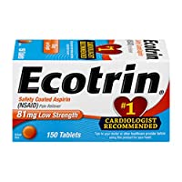 Ecotrin Low Strength Safety Coated Aspirin | NSAID | 81mg | 150 Tablets