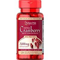 Puritan's Pride One A Day Cranberry Capsules, 120Count