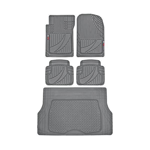 5pc HD Rubber Floor Mats /& Cargo Liner for Car SUV Auto FlexTough Advanced Performance Liners Black