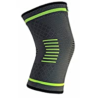 NatraCure Compression Knee Sleeve, Single Wrap - (Size: Large) - Braces and Supports Knee for Pain Relief, Meniscus Tear, Arthritis, Injury, Running, and Joint Pain - Best Knee Sleeve