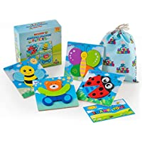 LITTLE GENIUS Wooden Animal Jigsaw Puzzles Educational Toddler Toys for 1 2 3 4 Years Old Boys & Girls Sensory, Bright Vibrant Colors Montessori Eco Friendly Toys Gift Box + Activity eBook