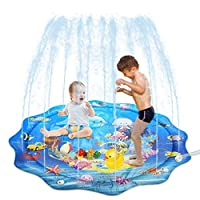"""NoxwB Inflatable Water Play Fun Pad for Kids Baby Pet Swimming Pool Game Toys Pad Beach Lawn Outdoor Mat 43"""""""
