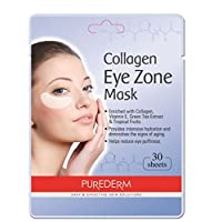 Deluxe Collagen Eye Mask Collagen Pads For Women By Purederm 2 Pack Of 30 Sheets/Natural Eye Patches With Anti-aging and Wrinkle Care Properties/Help Reduce Dark Circles and Puffiness