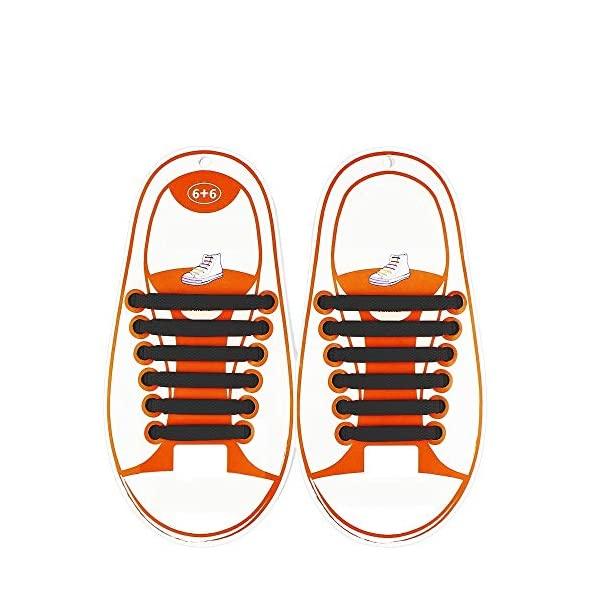 NEW Genuine Coolnice No Tie Shoelaces Elastic 100/% Silicone For Kids 4 pack