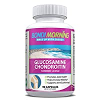 Glucosamine Chondroitin Dietary Supplement - with Turmeric & MSM, Potent, Effective, Natural, Improve Your Health, Relieve Joint Pains & Muscle Stiffness, Enhance Mobility. 90 Capsules