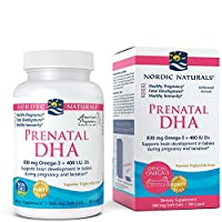 Nordic Naturals - Prenatal DHA, Supports Brain Development in Babies During Pregnancy and Lactation, 90 Soft Gels