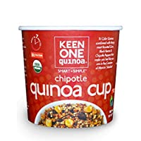 Keen One Quinoa Chipotle - Royal Organic Quinoa Mixed with Roasted Corn, Black Beans, and Chipotle Peppers {Pack of 6 Cups}