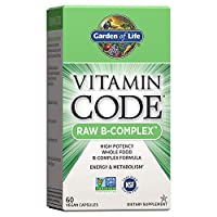 Garden of Life B Vitamin - Vitamin Code Raw B Complex Whole Food Supplement, Vegan, 60 Capsules *Packaging May Vary*