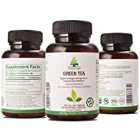 Premium Green Tea 90 Veg Capsules| 500 mg with 50% EGCG | Antioxidants & Polyphenols for Immune System - for Weight Loss & Energy| |Metabolism Boost - Natural Diet Pills Polyphenols for Immune System*