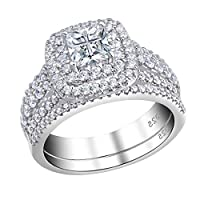 Gnzoe Jewelry 18K Rose Gold Plated Women Rings Design Conical Inlaid Color Crystal Size 8
