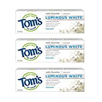 Tom's of Maine Luminous White Natural Toothpaste, Anticavity, Clean Mint, 4.0 Oz 3 Pack