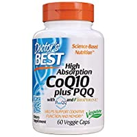 Doctor's Best High Absorption CoQ10 Plus PQQ, Gluten Free, Naturally Fermented, Vegan, Heart Health & Energy Production, 60 Veggie Caps