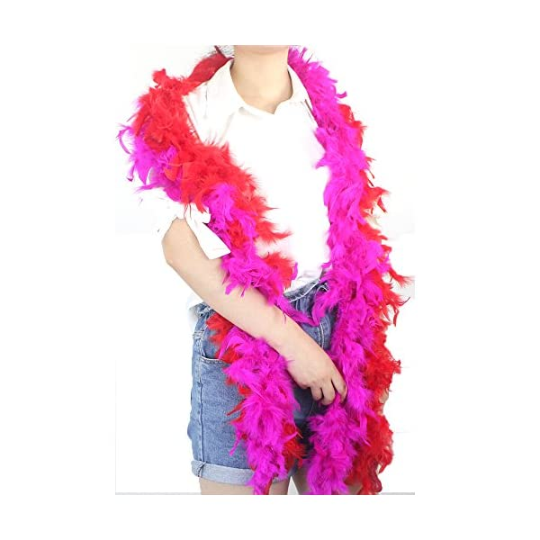MeiHoyo 3PCS 6.6ft Colorful Party Feather Boas Over 9 Color /& Patterns Blue