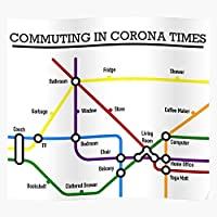 Covid Distancing Sars Lock Transport Timetable Distance Social Local Exit Funny Sayings, Pray for Victims of Covid Gift for Home Decor Wall Art Print Poster