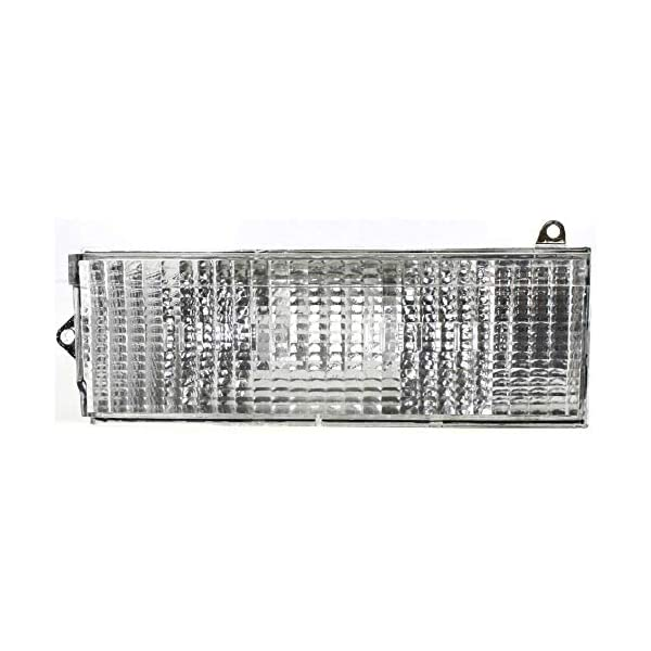 Turn Signal Light compatible with Jeep Cherokee 84-96 RH and LH Lens and Housing Below Headlamp Left and Right Side