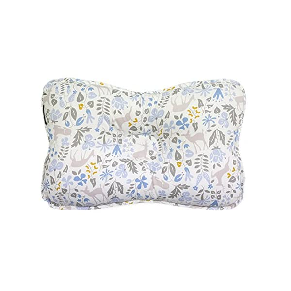 Baby Pillow for Newborn Breathable 3D Air Net Organic Cotton Protection for Flat Head Syndrome Bambi Blue Limited Edition