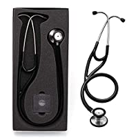 Cardiology Stethoscope, LotFancy Dual Head Stethoscope with Hard Case, Stainless Steel Chestpiece
