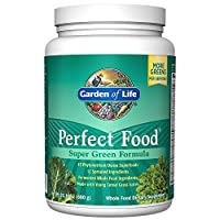Garden of Life Perfect Food Super Green Formula Powder, Whole Food Vegetable Superfood Plant Based Juiced Greens Supplement Dietary Powder, 60 Servings