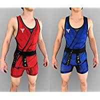 TRI-TITANS Dope Graffiti Funk Fighter Wrestling Singlet Youths and Adult Mens Sizes