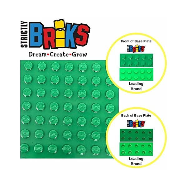 Strictly Briks Classic Baseplates for Building Bricks 100/% Compatible with Major Brands 4 Base Plates in White 15.75 x 13.25 Mats and More! Mats and More! 4 Base Plates in White 15.75 x 13.25 Building Bases for Tables
