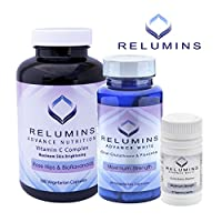 Relumins Advanced White Oral Glutathione, Vitamin C MAX & Booster Capsules - Ultimate Whitening Set - NEW AND IMPROVED now with Rose Hips