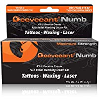 Deeveeant Numbing Cream Lidocaine Anesthetic (2oz/56g) Topical Pain Relief - Tattoos, Laser, Waxing, Microblading, Microneedling USA Made - Child Resistant Cap