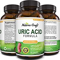 Natures Craft Uric Acid Kidney Support Vitamins for Men and Women – Herbal Cleanse Detox for Joint Comfort Muscle Recovery Pure Tart Cherry Milk Thistle and Bromelain Antioxidant Dietary Supplement