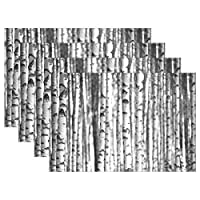 YUEND for Dinning Table Table Mats Tree Birch Forest Nature Resistant Placemats Non Slip Shepherd Heat Durable 1PC Kitchen Home
